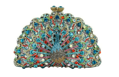 Original Beaded Peacock Clutch Bag Multi 17 / Small - Women Handbags & Purses | MegaMallExpress.com
