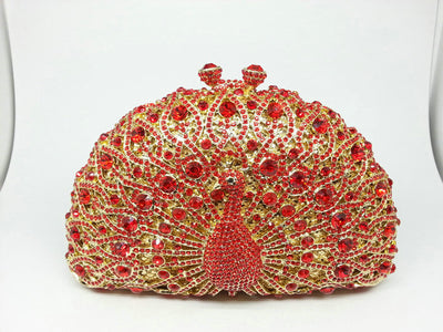 Original Beaded Peacock Clutch Bag Multi 20 / Small - Women Handbags & Purses | MegaMallExpress.com