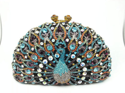 Original Beaded Peacock Clutch Bag Multi 21 / Small - Women Handbags & Purses | MegaMallExpress.com
