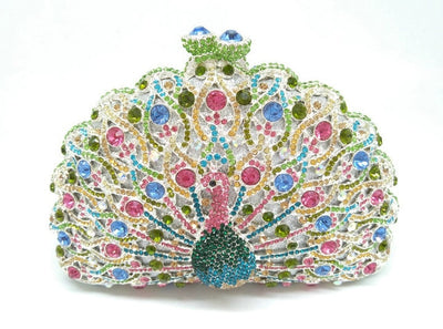 Original Beaded Peacock Clutch Bag Multi 23 / Small - Women Handbags & Purses | MegaMallExpress.com