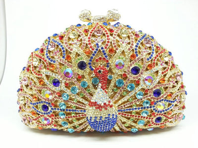 Original Beaded Peacock Clutch Bag Multi 25 / Small - Women Handbags & Purses | MegaMallExpress.com