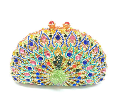 Original Beaded Peacock Clutch Bag Multi 26 / Small - Women Handbags & Purses | MegaMallExpress.com