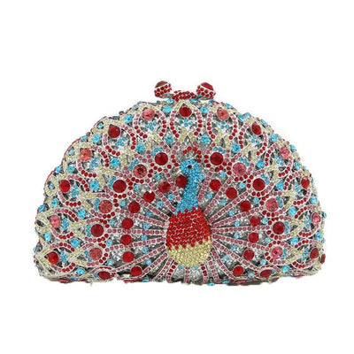 Original Beaded Peacock Clutch Bag  - Women Handbags & Purses | MegaMallExpress.com