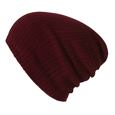 Solid Colors Bonnet Wine Red - Women Socks & More | MegaMallExpress.com