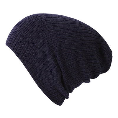 Solid Colors Bonnet Navy Blue - Women Socks & More | MegaMallExpress.com