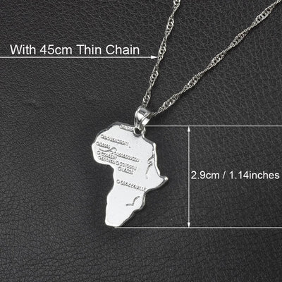 Africa Map Necklace With 45cm Thin Chain 1 - Necklaces & Pendants | MegaMallExpress.com