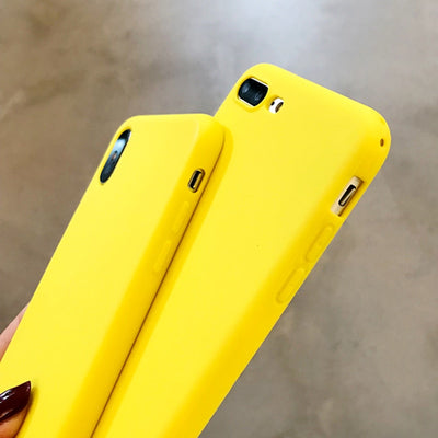 Bright Yellow Soft TPU Case Protection For iPhone XS Max, XS  & More  - Cases iPhone | MegaMallExpress.com