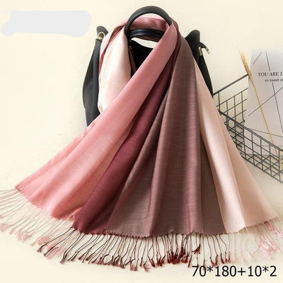 Elegant Cotton Tassel Scarves Multi 19 / 70 x 180 cm - Women Socks & More | MegaMallExpress.com