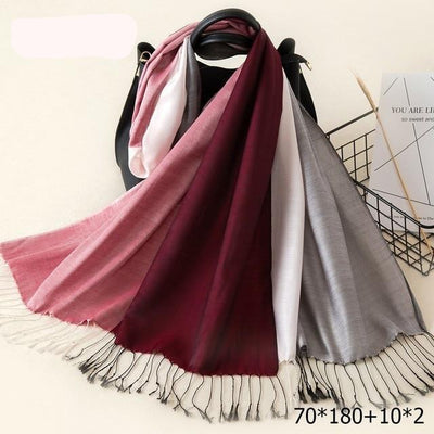 Elegant Cotton Tassel Scarves Multi 20 / 70 x 180 cm - Women Socks & More | MegaMallExpress.com