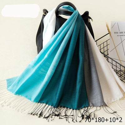Elegant Cotton Tassel Scarves Multi 21 / 70 x 180 cm - Women Socks & More | MegaMallExpress.com