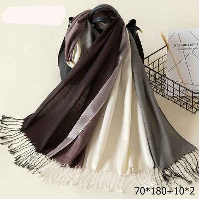 Elegant Cotton Tassel Scarves Multi 5 / 70 x 180 cm - Women Socks & More | MegaMallExpress.com
