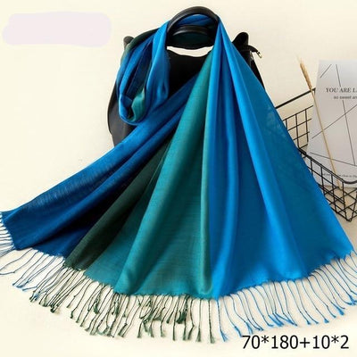 Elegant Cotton Tassel Scarves Multi 6 / 70 x 180 cm - Women Socks & More | MegaMallExpress.com
