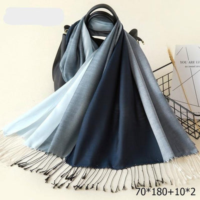 Elegant Cotton Tassel Scarves Multi 7 / 70 x 180 cm - Women Socks & More | MegaMallExpress.com