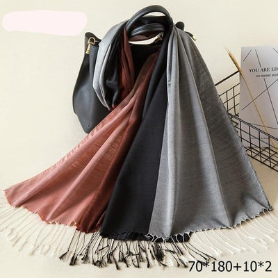 Elegant Cotton Tassel Scarves Multi 8 / 70 x 180 cm - Women Socks & More | MegaMallExpress.com