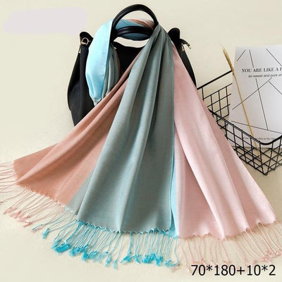 Elegant Cotton Tassel Scarves Multi 9 / 70 x 180 cm - Women Socks & More | MegaMallExpress.com