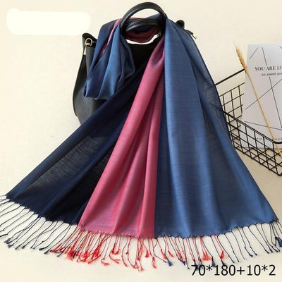 Elegant Cotton Tassel Scarves Multi 11 / 70 x 180 cm - Women Socks & More | MegaMallExpress.com