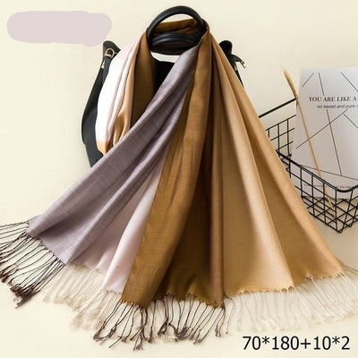Elegant Cotton Tassel Scarves Multi 12 / 70 x 180 cm - Women Socks & More | MegaMallExpress.com