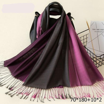 Elegant Cotton Tassel Scarves Multi 15 / 70 x 180 cm - Women Socks & More | MegaMallExpress.com