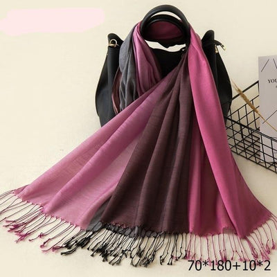 Elegant Cotton Tassel Scarves Multi 16 / 70 x 180 cm - Women Socks & More | MegaMallExpress.com