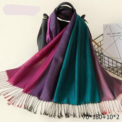 Elegant Cotton Tassel Scarves Multi 18 / 70 x 180 cm - Women Socks & More | MegaMallExpress.com
