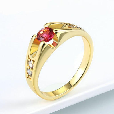 Austrian Crystal Wedding Ring 9 / YellowGold - Wedding & Engagement | MegaMallExpress.com