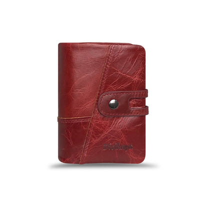 Women's Real Leather Small Wallets Red - Women Wallets | MegaMallExpress.com