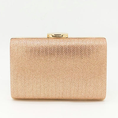 Women's Herringbone Pattern Evening Party Handbags Pink Evening Bags / 17 x 4 x 12 cm - Women Handbags & Purses | MegaMallExpress.com