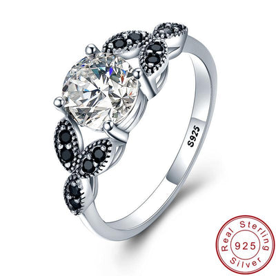 Sterling Silver Jewelry Engagement Ring 9 / Silver - Fine Jewelry | MegaMallExpress.com