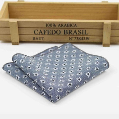 Vintage Handkerchief Blue 13 - Men Ties & Accessories | MegaMallExpress.com