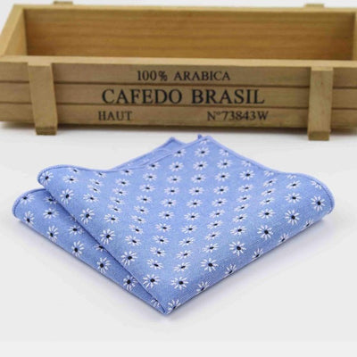Vintage Handkerchief Blue 14 - Men Ties & Accessories | MegaMallExpress.com