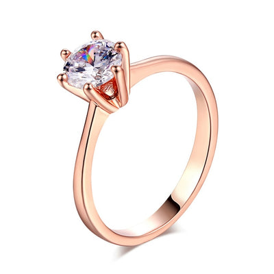 6 Prong Solitaire Ring 9 / DFR014 - Wedding & Engagement | MegaMallExpress.com