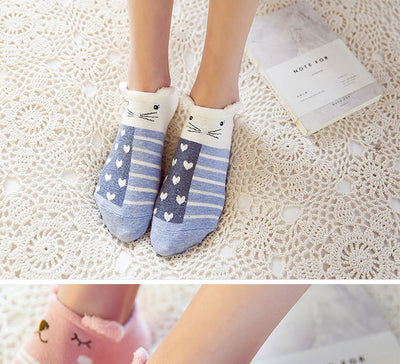 Women Animal Print Cotton Socks  - Women Socks & More | MegaMallExpress.com
