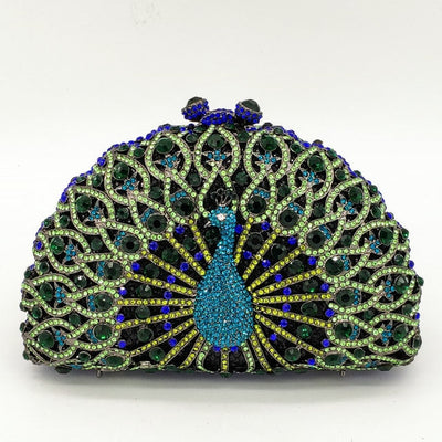 Original Beaded Peacock Clutch Bag Multi 22 / Small - Women Handbags & Purses | MegaMallExpress.com