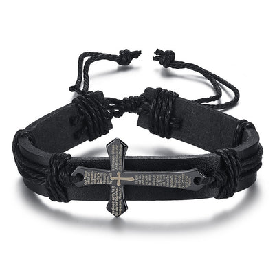 Cross Bangle Black English - Bracelets & Bangles | MegaMallExpress.com