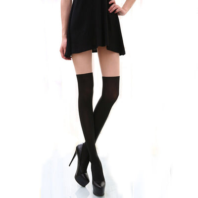 Sexy Women Above Knee Tights Black 1 / OSFA - Women Socks & More | MegaMallExpress.com