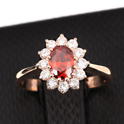 Princess Crystal Ring 9 / Ruby - Formal Rings | MegaMallExpress.com