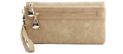 Large Capacity Women Wallets Beige - Women Wallets | MegaMallExpress.com