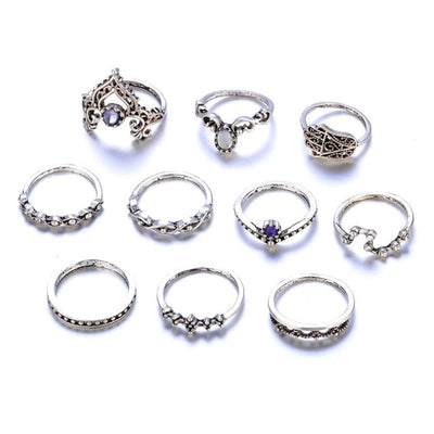 Bohemian Flower Ring Silver - Casual Rings | MegaMallExpress.com