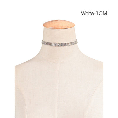 Crystal Choker Necklace Silver Style 2 - Necklaces & Pendants | MegaMallExpress.com