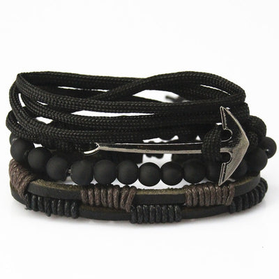 Bead Leather Bangle Multi 12 - Bracelets & Bangles | MegaMallExpress.com