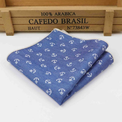 Vintage Handkerchief Blue 16 - Men Ties & Accessories | MegaMallExpress.com