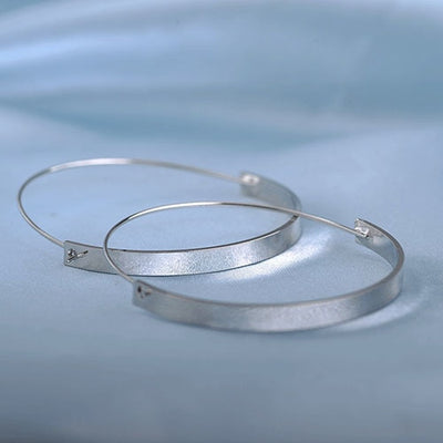 Big Hoop Earrings Silver - Earrings | MegaMallExpress.com