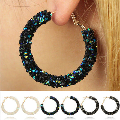 Shiny Hoop Earrings  - Earrings | MegaMallExpress.com