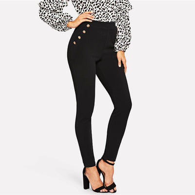 Elegant Black Skinny Pants  - Women Bottoms | MegaMallExpress.com