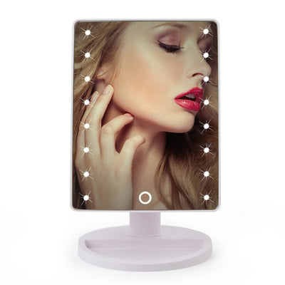 Elegant LED Touch Screen 1X 10X Magnifier Makeup Desktop Mirror 16 Led White Part - Trending Products | MegaMallExpress.com