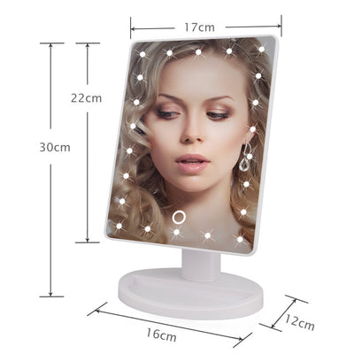 Elegant LED Touch Screen 1X 10X Magnifier Makeup Desktop Mirror  - Trending Products | MegaMallExpress.com