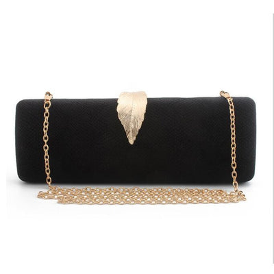 Women Faux Suede Evening Clutch Bag Black / 26 x 6 x 10 cm - Women Handbags & Purses | MegaMallExpress.com