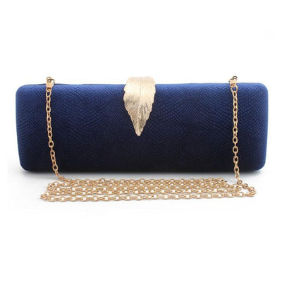 Women Faux Suede Evening Clutch Bag Blue / 26 x 6 x 10 cm - Women Handbags & Purses | MegaMallExpress.com
