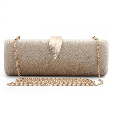 Women Faux Suede Evening Clutch Bag Gold / 26 x 6 x 10 cm - Women Handbags & Purses | MegaMallExpress.com