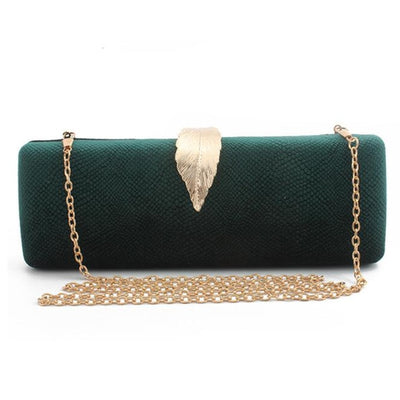 Women Faux Suede Evening Clutch Bag Green / 26 x 6 x 10 cm - Women Handbags & Purses | MegaMallExpress.com